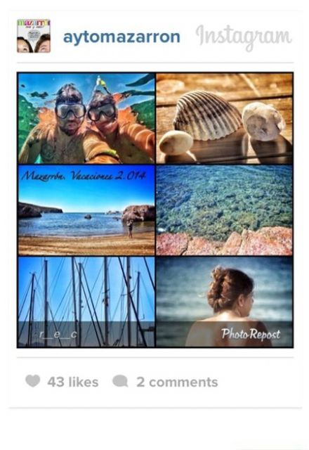 Mazarrón entre las 18 marcas españolas más exitosas en Instagram, Foto 1