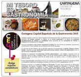 Cartagena competirá con otras cuatro ciudades por ser la Capital Española de Gastronomía 2015