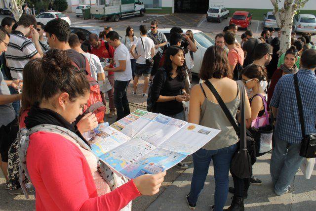 El alcalde recibe a la primera de las expediciones de los alumnos de arquitectura de la UPCT, Foto 4