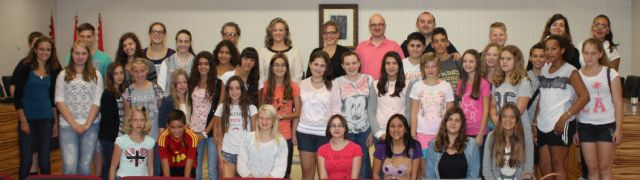 La alcaldesa de Torre-Pacheco recibe a los alumnos alemanes de intercambio - 1, Foto 1