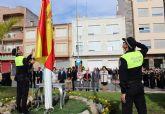 Puerto Lumbreras se suma al acto homenaje de la bandera de España con motivo del Día de la Hispanidad