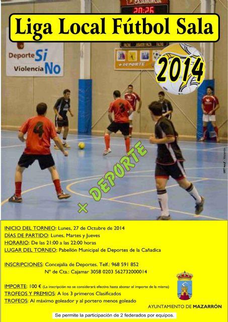 La liga local de fútbol sala se celebrará a finales de octubre - 2, Foto 2