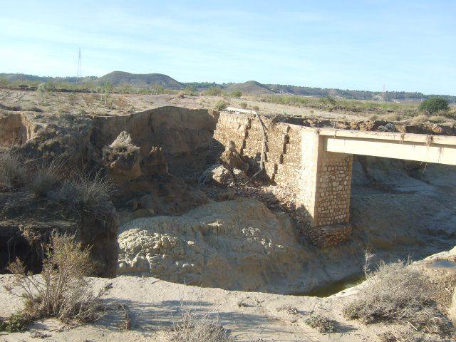 Agricultura inicia las obras del puente de Cañada de Romero afectado por la riada de 2012 - 1, Foto 1