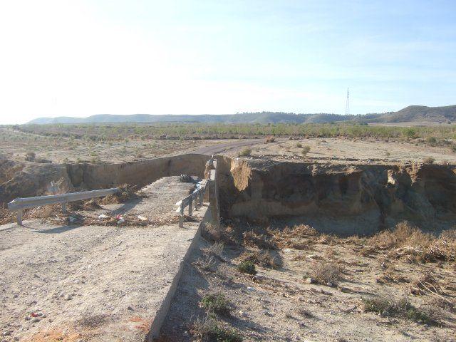 Agricultura inicia las obras del puente de Cañada de Romero afectado por la riada de 2012 - 2, Foto 2