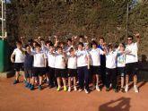 Gran comienzo de la Liga Regional Interescuelas del equipo del Club de Tenis Totana