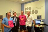 El Alcalde de Murcia se prepara para la Maratón de Nueva York en Hospital La Vega