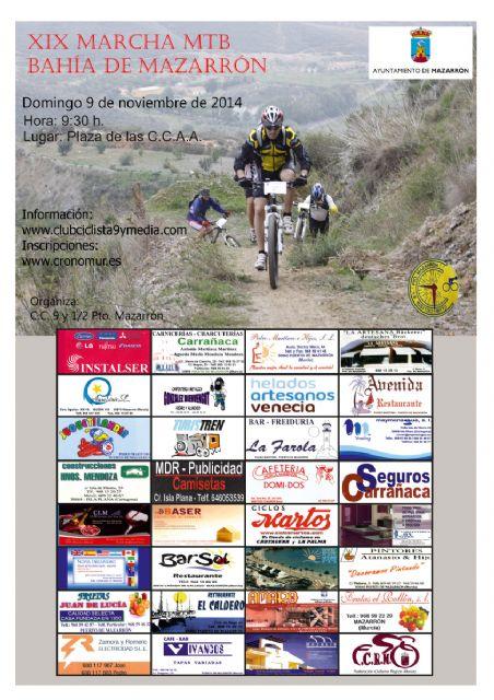El Club Ciclista 9 y Media prepara la XIX Marcha Mountain Bike Bahía de mazarrón, Foto 1