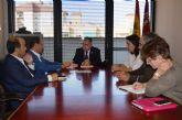 El consejero de Fomento, Obras Públicas y Ordenación del Territorio recibe al alcalde de Murcia y a los portavoces de los grupos municipales