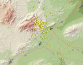 Protección Civil informa de que en los últimos siete días se han producido un total de 142 pequeños terremotos en la zona del Valle Guadalentín