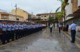 El alcalde declara 'vecinos' del municipio a los 144 alumnos de nuevo ingreso de la AGA en su visita oficial a la localidad