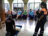El Servicio de Protección Civil forma en primeros auxilios a usuarios del centro de Día de AFEMAR