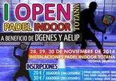 El I Open Padel Indoor será a beneficio de D´Genes y AELIP