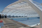 Terminan la instalaci�n de la piscina municipal cubierta