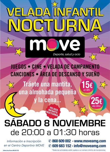 MOVE organiza una Velada infantil nocturna con juegos, cine, canciones, etc., Foto 1