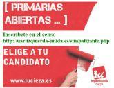 Primarias abiertas en IU-Verdes para elegir el candidato a la presidencia de la Comunidad
