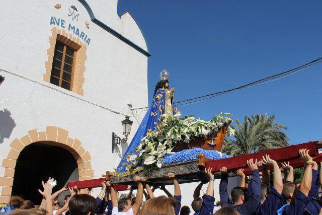 Centenares de fieles acompañan a la Virgen del Milagro en la subida hasta el santuario de La Purísima - 1, Foto 1