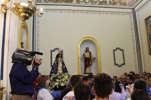Centenares de fieles acompañan a la Virgen del Milagro en la subida hasta el santuario de La Purísima - 2, Foto 2