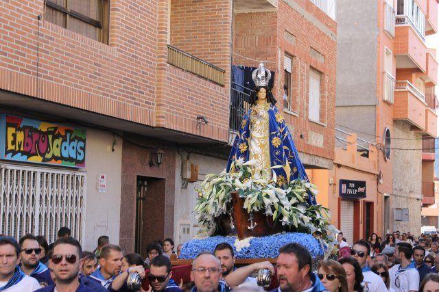Centenares de fieles acompañan a la Virgen del Milagro en la subida hasta el santuario de La Purísima - 3, Foto 3
