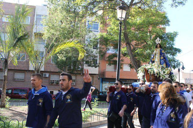 Centenares de fieles acompañan a la Virgen del Milagro en la subida hasta el santuario de La Purísima - 4, Foto 4