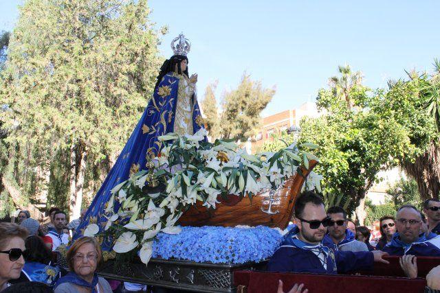 Centenares de fieles acompañan a la Virgen del Milagro en la subida hasta el santuario de La Purísima - 5, Foto 5