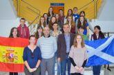 Recepción en el Ayuntamiento a un grupo de jóvenes estudiantes escoceses