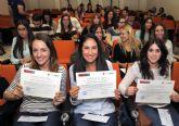 60 alumnos de la Universidad de Murcia reciben los diplomas de las prácticas rurales y sociosanitarias