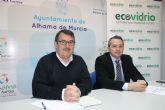 El Ayuntamiento de Alhama de Murcia y Ecovidrio impulsan el reciclado de envases de vidrio en el sector de la hosteler�a