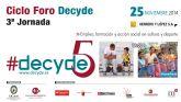 Foro Decyde: Empleo, fiscalidad y acción social en cultura y deporte