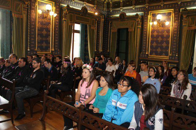 Los jóvenes de Mazarrón muestran su rechazo a la violencia de género - 1, Foto 1