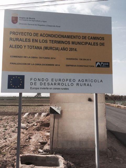 Finalizan las obras de arreglo y acondicionamiento del camino rural de La Serrana, Foto 2