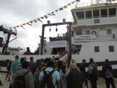Escolares de San Pedro del Pinatar visitan el buque oceanográfico Ramón Margalef del IEO