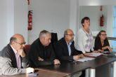 El alcalde se re�ne con los vecinos de Camposol afectados por las inundaciones de septiembre