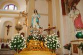 Alguazas expresa su devoción a la Purísima con triduo, ofrenda floral, misa y procesión