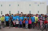 Más de 200 personas participaron en el Ciclopaseo en La Estación- Esparragal de Puerto Lumbreras