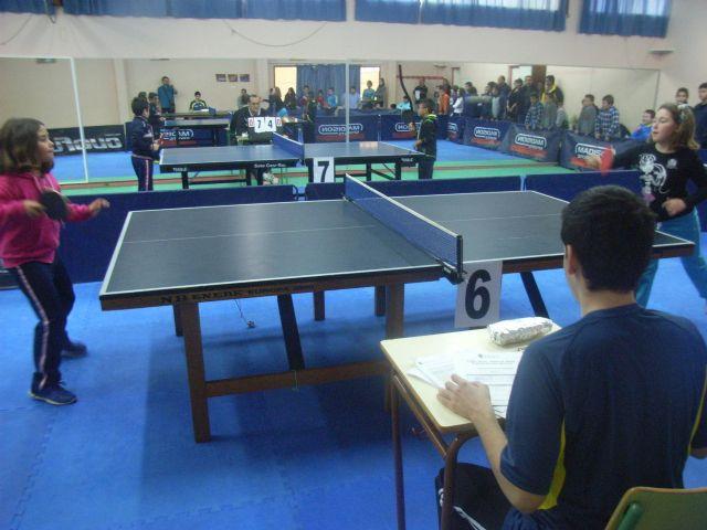 La Concejal�a de Deportes organiz� la Fase Local de Tenis de Mesa de Deporte Escolar, que cont� con la participaci�n de 66 escolares, Foto 3