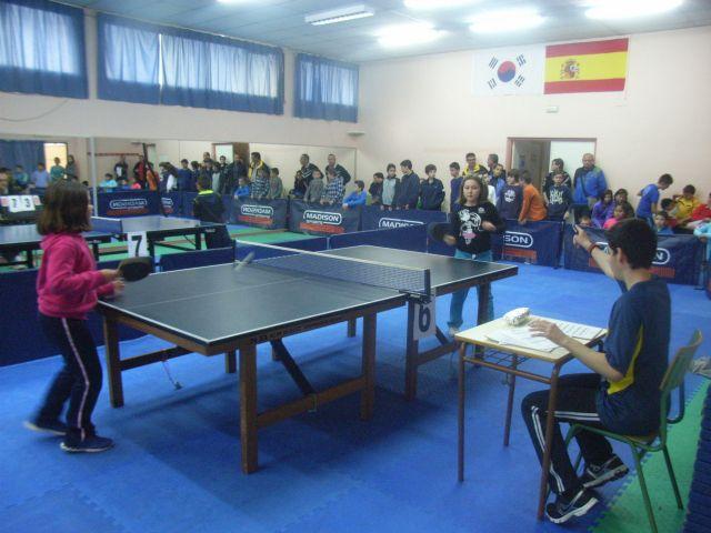 La Concejal�a de Deportes organiz� la Fase Local de Tenis de Mesa de Deporte Escolar, que cont� con la participaci�n de 66 escolares, Foto 4