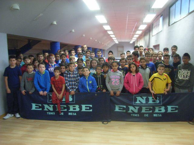 La Concejal�a de Deportes organiz� la Fase Local de Tenis de Mesa de Deporte Escolar, que cont� con la participaci�n de 66 escolares, Foto 6