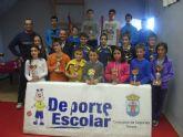 La Concejalía de Deportes organizó la Fase Local de Tenis de Mesa de Deporte Escolar, que contó con la participación de 66 escolares