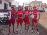 Los ciclistas del CC Santa Eulalia disputan el Memorial El Capellán este pasado fin de semana en San Pedro del Pinatar