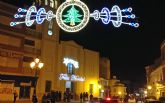 Las luces navideñas iluminan el centro de Puerto Lumbreras con iluminación led, para favorecer el ahorro energético