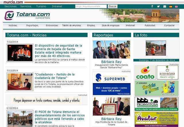 Totana.com rediseña su web, Foto 1