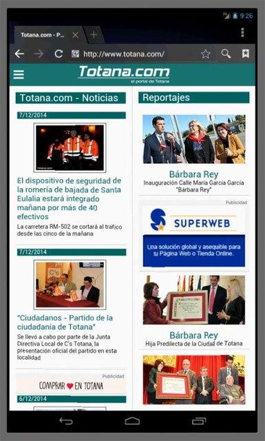 Totana.com rediseña su web, Foto 3