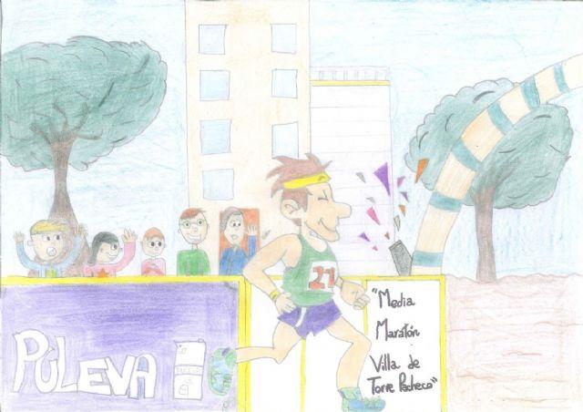 """Paula López Armero del CEIP El Alba de Roldán gana el quinto concurso de dibujo """"Media Maratón Villa de Torre-Pacheco"""" - 2, Foto 2"""