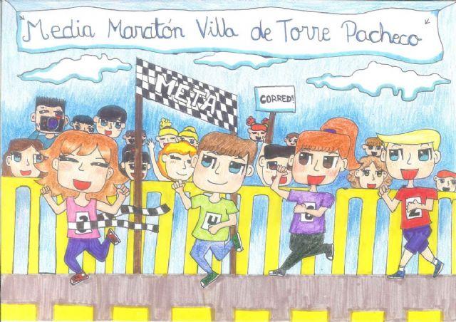 """Paula López Armero del CEIP El Alba de Roldán gana el quinto concurso de dibujo """"Media Maratón Villa de Torre-Pacheco"""" - 3, Foto 3"""