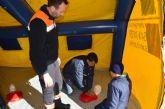Los voluntarios de Protección Civil comparten sus habilidades con los ciudadanos mañana en la plaza de España