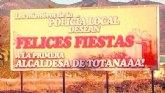 Los miembros de la Polic�a Local desean Felices Fiestas a la primera alcaldesa de Totanaaa!
