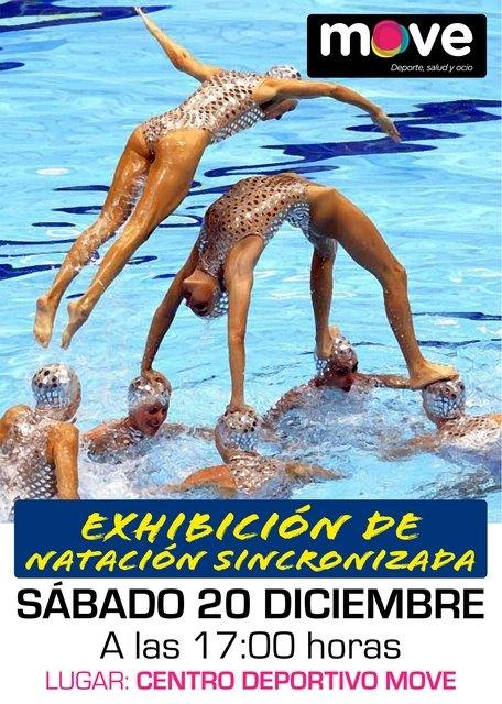 El Centro Deportivo MOVE acoger� el pr�ximo 20 de diciembre una Exhibici�n de Nataci�n Sincronizada, Foto 1