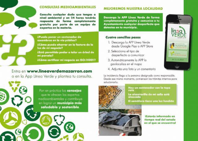 El servicio de línea verde recoge 136 incidencias comunicadas por los usuarios de Mazarrón - 2, Foto 2