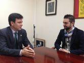 Los J�venes Empresarios del Guadalent�n se re�nen con el Alcalde de Alhama de Murcia