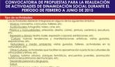 Se abre el abre el plazo de presentación de propuestas para la realización de actividades de dinamización social durante los meses de febrero a junio de 2015